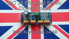 I2C 16 Channel Servo Driver Board with 12-Bit PWM for Arduino Raspberry Pi Robot