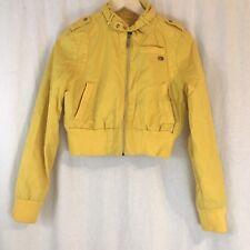 Ecko Red Girl's Cropped Bomber Jacket EUC Yellow Size Medium