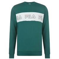 Fila Benny Crew Sweatshirt Mens Gents Pullover T Shirt Tee Top Jumper Full