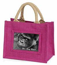 Gorilla 'You Sexy Beast' Little Girls Small Pink Shopping Bag Christma, AM-12BMP