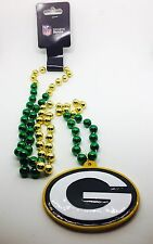 NFL Green Bay Packers Mardi Gras Beads With Medallion Necklace