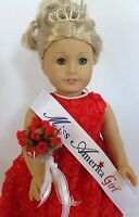 "Miss America Pageant Crown for American Girl Doll 18"" Jewelry Accessories FIT"