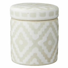 Lene Bjerre Dose mit Deckel Camelia Keramik Unikat Silver/White