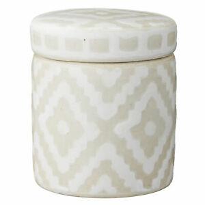 Lene Bjerre Box with Lid Camelia Ceramic Unique Silver/White