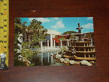 POSTCARD VINTAGE OLD RARE KAPOK TREE INN CLEARWATER FLORIDA #2 FOUNTAIN