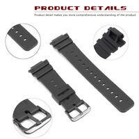 16mm Black Rubber Watch Band For CA SIO G-Shock DW-6900 /6600 G-6900 With Buckle