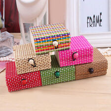 1PC Pure Bamboo Storage Box Home Organizer Jewelry Boxes Wooden Trinket Case