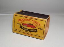 MATCHBOX LESNEY no 66 Citroen DS19 1959 ORIGINAL EMPTY BOX