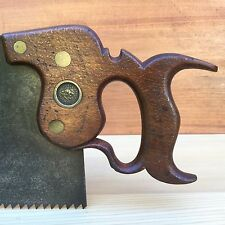 PREMIUM Quality SHARP! Vintage MOSES EADON 4PPI Rip SAW Antique Old Tool #287