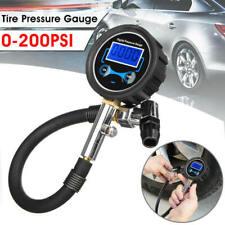 Digital LCD Tyre Tire Air Pump Pressure Gauge Tester 0-200PSI Car Motorcycle bvc