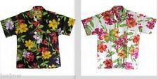 Cotton Blend Short Sleeve Floral Hawaiian Casual Shirts for Men