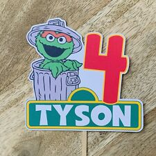 Oscar The Grouch Sesame Street Cake Topper Custom Cake Topper