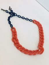 VALROSE Chunky Eyeglass Chain Coral Navy France