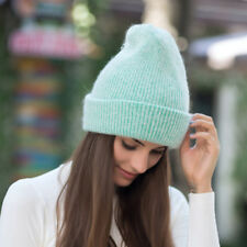 Green Womens Cashmere Wool Knitted Beanie Slouchy Skull Hat Winter Cap Y88