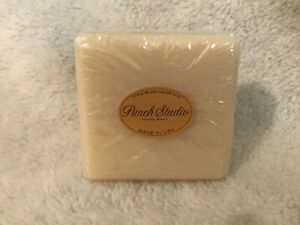 Punch Studio Unknown Scented Embossed Square Soap  -  NEW Bath Luxury