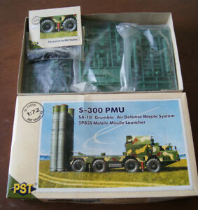 S-300 PMU SA-10 5P855 AIR DEFENSE MISSILE SYSTEM + TIRES - PST 72050 A002 1/72