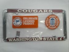 Washington State Cougars Metal License Plate Frame - Officially Licensed - WSU
