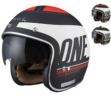 Limited Edition Black One Open Face Motorcycle Helmet Scooter Moped Bike Jet Lid