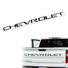 Matte Black CHEVROLET Tailgate Insert Emblem for Silverado 1500 2500 3500 2019+