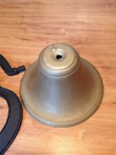 Crystal Metal No. 2 Cast Iron School Fire Church Bell With Yoke Made In Usa Vgc