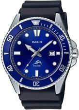 Casio Men's Diver  Stainless Steel Resin Strap, Black, Watch MDV-106B-2AVCF