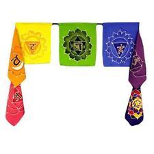 Chakra Flags - Seven Batik Flags - 32cm x 25cm - Bali Batik