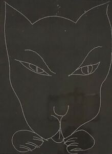 """Charles Blackman (Australian 1928-2018) C/P Etching """"Cat's Claws"""" Signed Titled"""
