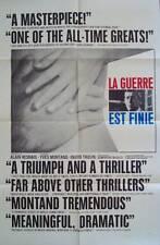 LA GUERRE EST FINIE WAR IS OVER 1 sheet movie poster 27x41 MONTAND ALAIN RESNAIS