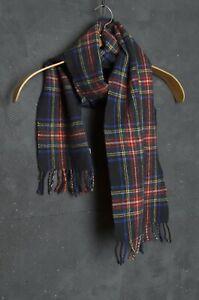 Mads Norgaard SCARF Men SHAWL Wool Tartan Tweed Check Plaid Scotland Johnstons