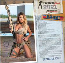 Tactical Girls 2021 Gun Calendar Soldier Sailor Marine LEO Shooter Airsoft gift