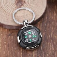 Outdoor Camping Hiking Mini Compass Navigator Portable Keychain Survival Tool Q