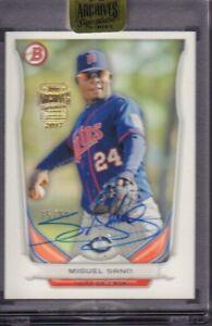 Miguel Sana Signature Archives Baseball Bowman Chrome 35/99 021218DBET