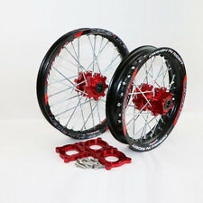 "Black  Front 1.40-14"" Rear 1.85-12"" Alloy Pit Bike Wheel Rim with CNC Hub BSE"