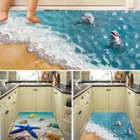 3D Beach DIY Removable Art PVC Floor Wall Stickers Decal Mural Decor Room Bathro
