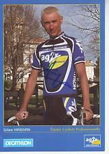CYCLISME carte cycliste GILLES MAIGNAN équipe AG2R signée