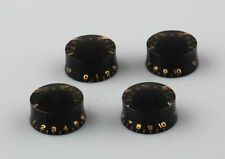Black Speed Knobs Black Volume Tone Control Buttons Parts for Les Paul Guitar