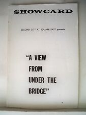 A VIEW FROM UNDER THE BRIDGE Playbill SECOND CITY / PAUL SILLS NYC 1964