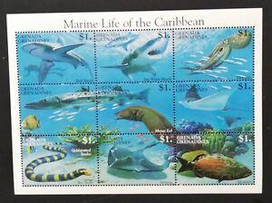 Grenada- MARINE LIFE-of the CARIBBEAN-1 M/Sh-MNH**-GG 017