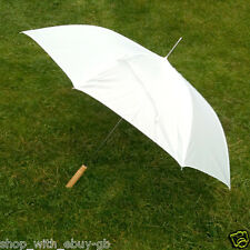 White & or Coloured Large Automatic Wedding Umbrella Bride, Groom & Bridesmaids