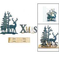 Elk Xmas Tree Wooden Ornaments Christmas Party DIY Crafts Home Garden Decor UA