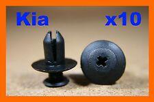 10 KIA Parachoques Guardabarros Clips de tornillo de empuje sujetador plástico de desgaste