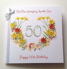 PERSONALISED BIRTHDAY CARD MUM SISTER AUNTIE NAN 50th 60th 70th 80th 90th 100th