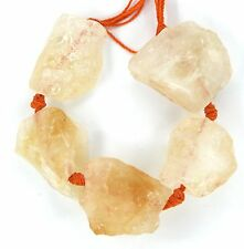 LARGE NATURAL Yellow Orange Citrine Rough Raw Nugget Beads 20x20 20x25 25x30mm