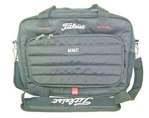 Titleist Briefcase Computer Bag Black Red Monogramed