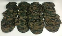New Lot of 14 ea. USMC Marine Corps 8-Point Garrison Cover Cap Woodland MARPAT