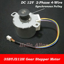 35BYJ212H Reduction Gear Stepper Motor DC 12V 2-Phase 4-Wire 35mm Round Motor