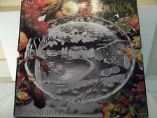 "CRYSTAL COUNTRY LIVING SCENE PLATTER 14"" DIAMETER #312840"