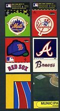 1982 FLEER BASEBALL TEAM STICKER MASTER SET OF ALL 107 DIFF STICKER VARIATIONS