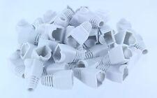 White CAT5E CAT6 RJ45 Ethernet Network Cable Strain Relief Boots, 50 PCS/Per Bag