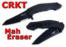 CRKT Columbia River Mah Eraser BLACK Folding Knife G-10 Handle Serrated 8900K